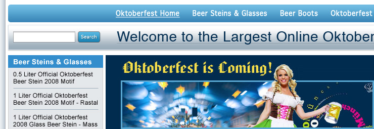 Working with Brendan of Bamtar to create Google-i-cious landing pages for Bamtar's family of German Oktoberfest websites.